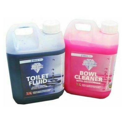 Blue Diamond 2L Double Pack Toilet Fluid & Bowl Cleaner