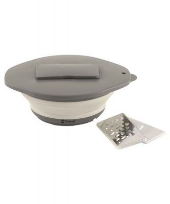 Outwell Collaps Bowl & lid w/grater Cream White Colour: WHITE