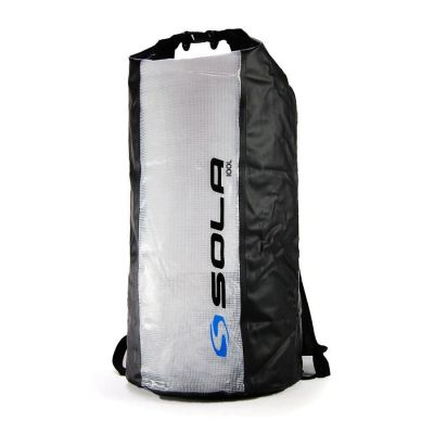 Sola 100ltr Dry Backpack Colour: BLACK/CLEAR