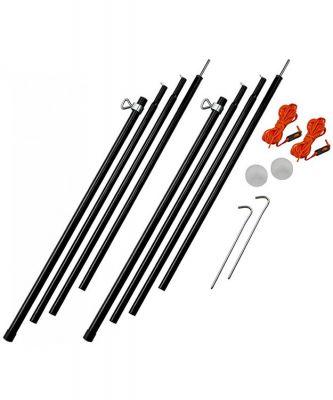 Vango Adjustable Steel King Poles 180-220cm Colour: ONE COLOUR