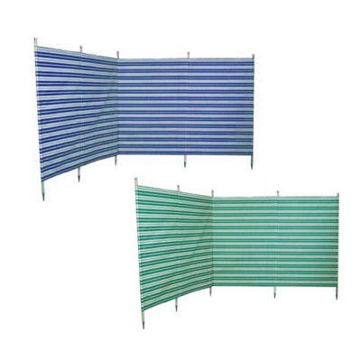 Blue Diamond 5 Pole Green Stripe Windbreak