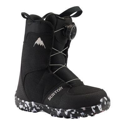Burton Kids Grom BOA Snowboard Boot Colour: BLACK / SIZE: 1