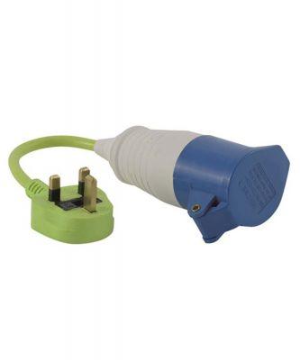Outwell Conversion Lead Plug - UK Colour: ONE COLOUR