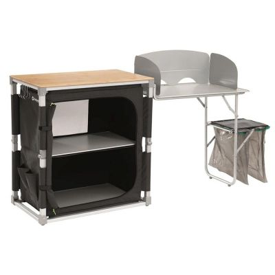 Outwell Padres Kitchen Table & Side Unit Colour: GREY