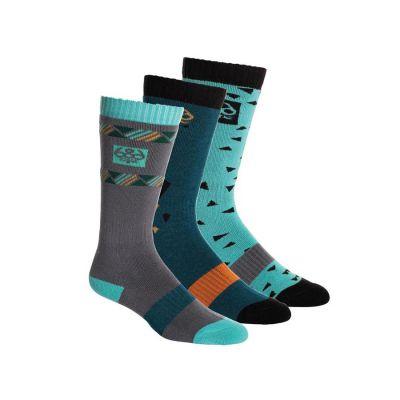 686 Heater Sock 3 Pack Jewel W Colour: MULTI COLOURED / SIZE: 4-7