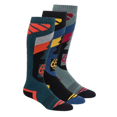 686 Mens So Fresh Sock 3 Pack Colour: MULTI COLOURED / SIZE: L/XL
