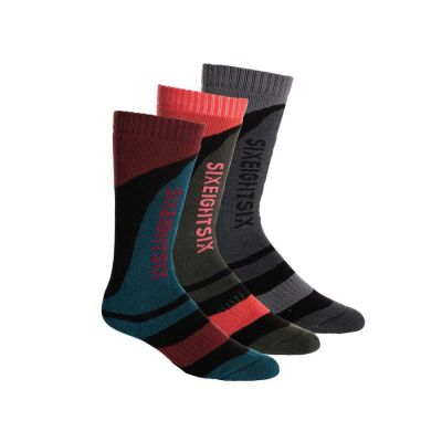 686 Veranda Sock 3 Pack Swell W Colour: MULTI COLOURED / SIZE: 4-7