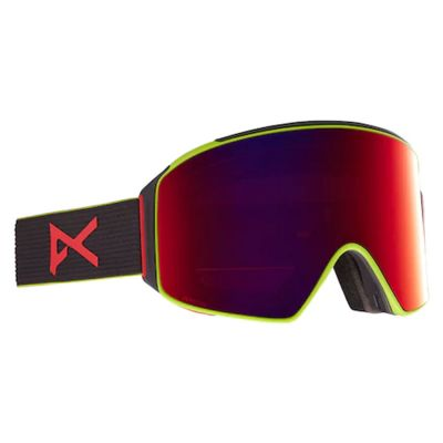 Anon M4 Goggle Cylindrical + Bonus Lens Colour: BLACK/RED