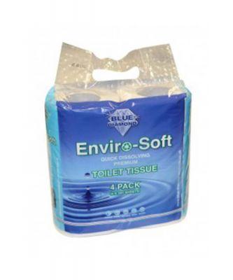 Enviro-Soft Premium Toilet Tissue 4 Pack Colour: ONE COLOUR