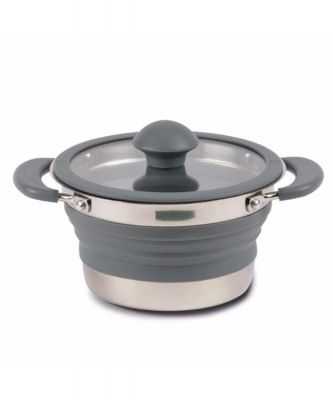 Kampa Folding Saucepan 1L Grey Colour: ONE COLOUR