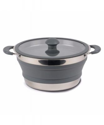 Kampa Folding Saucepan 3L Grey Colour: ONE COLOUR