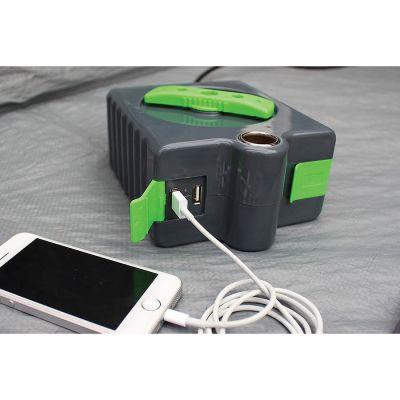 Outdoor Revolution 12V USB Charging & Power Hub Colour: BLACK/GREEN
