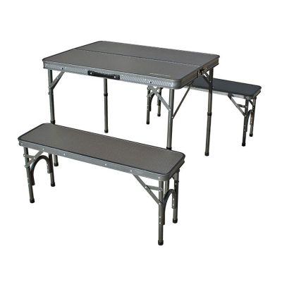 Outdoor Revolution Premium Table & Bench Set Colour: GREY