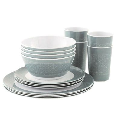 Outwell Blossom Dinner Set Colour: BLUE