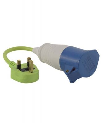 Outwell Conversion Lead Plug - UK Colour: ONE COLOUR