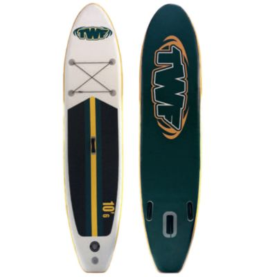 TWF Inflatable SUP 10'6 Colour: WHITE/GREEN