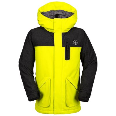 Volcom VS Insulated Jacket Boys Colour: BLACK/YELLOW / SIZE: 12 Y
