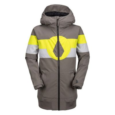 Volcom West Jacket Boys Colour: GREY YELLOW / SIZE: 12 Y