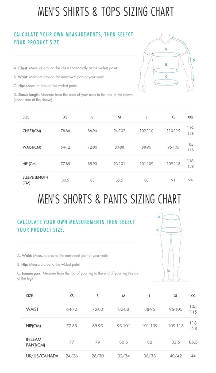 Salomon Mens Size Chart